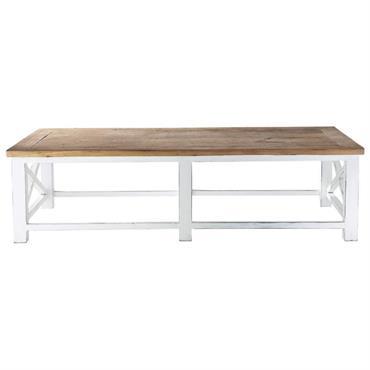 Table basse en bois recyclé L 160 cm Sologne