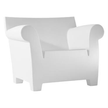 Chaise Bubble Club - Kartell blanc zinc en matière plastique