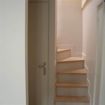 Escalier accès combles