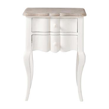 Naturellement élégant, le chevet blanc Martigues se distingue par sa façade ondulée et ses jolis pieds cambrés. Dotée de deux tiroirs, cette table de chevet en bois patiné légèrement vieilli ...
