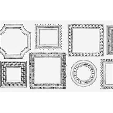 Papier peint Cadres horizontaux / 1 lé - Domestic blanc