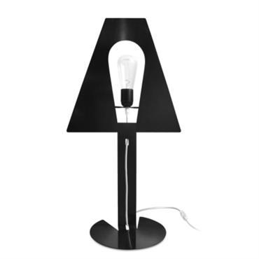 Lampe design à poser XL noire