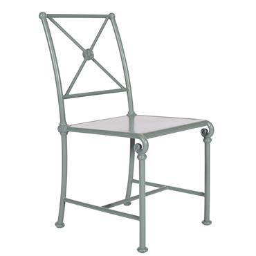 Chaise en aluminium pour le jardin