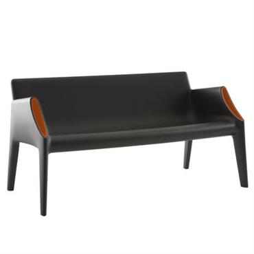 Canapé droit Magic Hole / L 141 cm - Kartell orange
