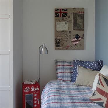 Chambre d'adolescent sur le thème de l'Angleterre
