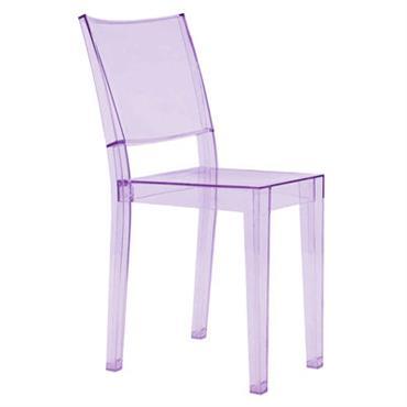 Chaise empilable La Marie / Polycarbonate - Kartell violet en matière plastique