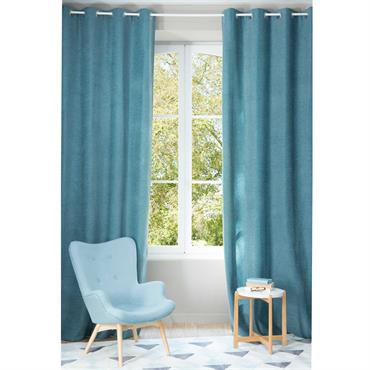 Envie d'une touche déco pleine de fraîcheur ? Le rideau à illets bleu cobalt CHENILLE habillera vos fenêtres d'une nuance bleue douce et élégante. Avec ce rideau à illets , ...