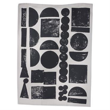 Torchon Stamp - Ferm Living noir en tissu