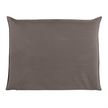 Housse de tête de lit 140 taupe Soft