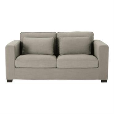 Canapé 3 places en tissu gris Milano