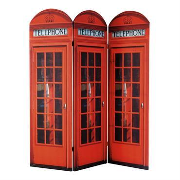 Paravent en bois rouge L 150 cm CABINE UK