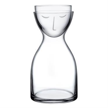 Carafe à eau et verre