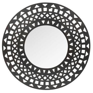 Miroir rond en métal D 51 cm ADHIRA
