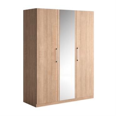 Armoire 3 portes battantes bois et miroir Dream