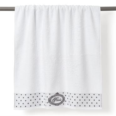 Drap de bain en coton blanc 100 x 150 cm PARIS