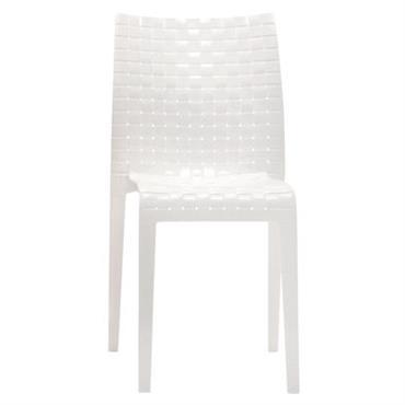 Chaise empilable Ami Ami / Polycarbonate - Kartell blanc brillant en matière plastique