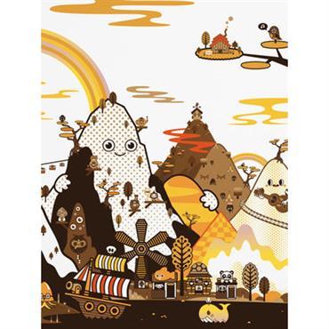 Papier peint panoramique Banoffee Peaks Spring / 8 lés - L 372