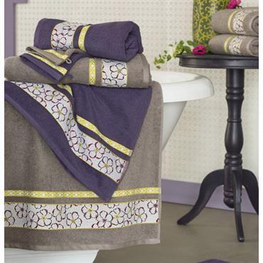 Somptueuse et authentique Eponge 100% coton, 400 g/m² Lavable à 60° Liteau jacquard