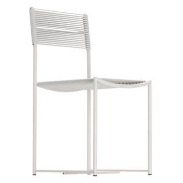 Chaise Alias design Blanc,Blanc granité en Métal. Dimensions : Larg. 40 cm x Prof. 51 cm x H 84 cm - Assise : H 46 cm. Dessinée en 1979 par ...