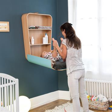Change bébé mural