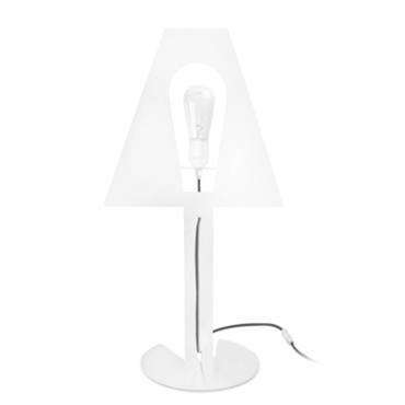 Lampe desgin 2D 2Plis XL blanche fil gris