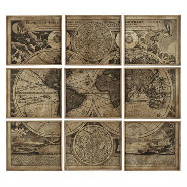 9 cadres mappemonde 189 x 213 ATLAS