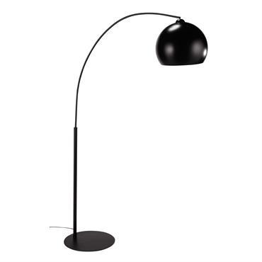 Lampadaire en métal noir H 190 cm BLACK SPHERE