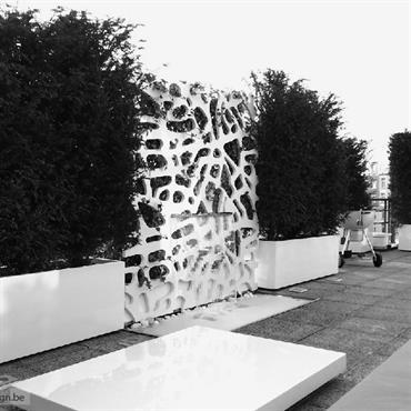 Bacs à plante pour une Terrasse Design à Bruxelles