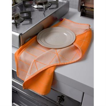 Torchon Hay Design Bleu Clair,Orange fluo Tissu L 75 cm x l 52 cm Avec ces torchons stylés aux imprimés graphiques et aux coloris flashy, la vaisselle ne sera jamais ...