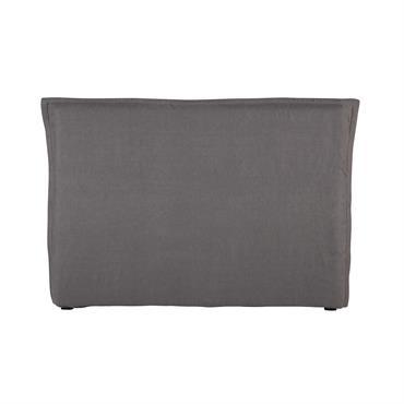 Housse de tête de lit 160 en lin lavé grise Morphee