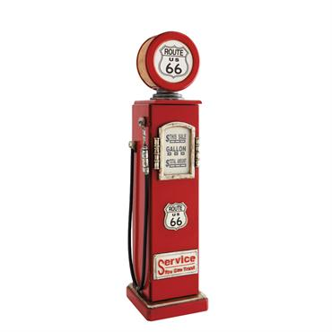 Lampe range CD rouge H95 ROUTE 66