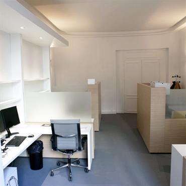 Plateau de bureaux individuels