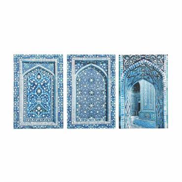 3 toiles bleues 53 x 80 cm GABÈS