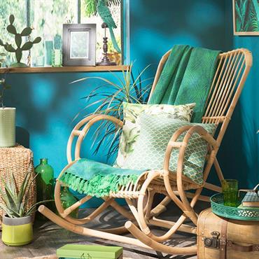 Décoration exotique avec meubles en rotin