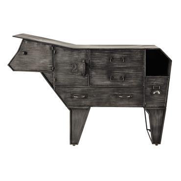 Cabinet de rangement vache en métal L 144 cm Marguerite