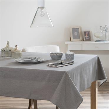 Nappe en tissu gris anthracite 140 x 250 cm ÉTINCELLE