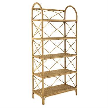 Réinventée, cette étagère en rotin et bambou fera le bonheur des amateurs de déco vintage ! Pour exposer et ranger vos objets, cette étagère dispose de 5 étagères tressées. Le ...
