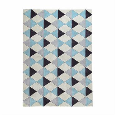 Tapis à poils courts bleu 160 x 230 cm NORDIC