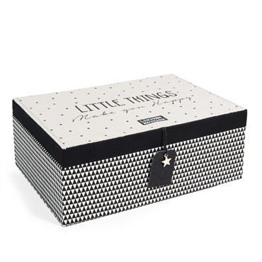 Boîte à bijoux avec miroir H 9 cm BLACKSTAGE MELI