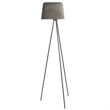 Lampadaire Felt Shade - Tom Dixon gris en métal