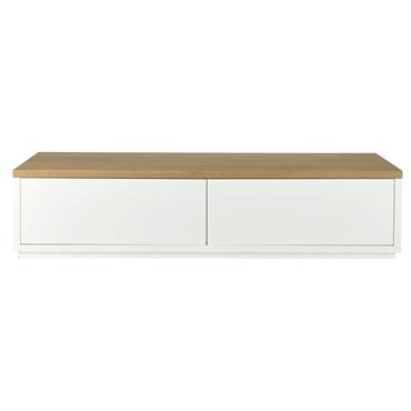 Meuble TV 2 portes blanc L180 Austral