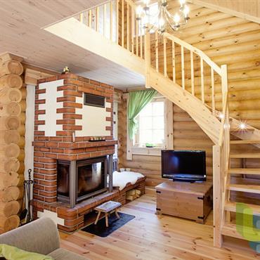 Salons chalets id e d co et am nagement salons chalets domozoom - Chalet en bois moderne ...