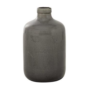 Vase en céramique taupe H 43 cm AGATHE
