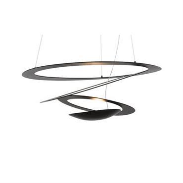 Suspension Pirce Micro LED / Ø 48 cm - Artemide noir en métal