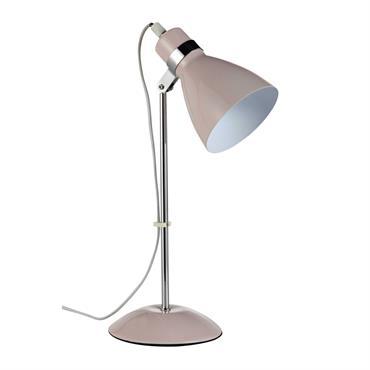 Lampe de bureau en métal rose