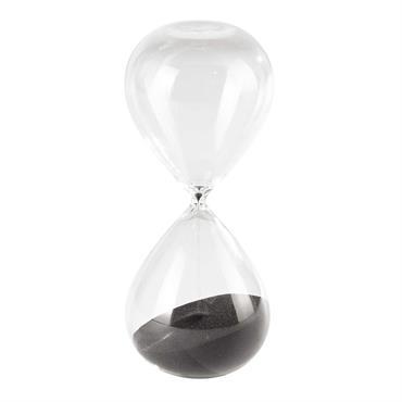 Sablier en verre noir H 38 cm JANICE