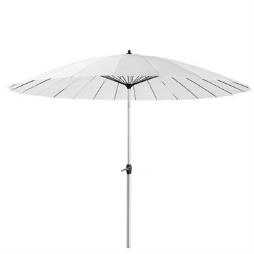 Parasol en tissu et aluminium blanc Papaye