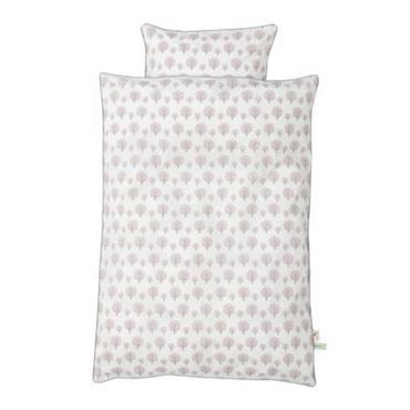 Parure de lit enfant Ferm Living design Rose pâle en Tissu. Dimensions : Housse de couette : L 140 cm x larg 100 cm - Taie d´oreiller : 50 cm ...