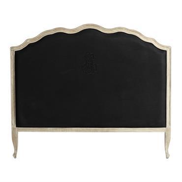 Revêtue de lin noir, cette tête de lit 140 apportera une note de chic à votre chambre. Soulignée par des courbes en bois de chêne grisé, cette tête de lit ...