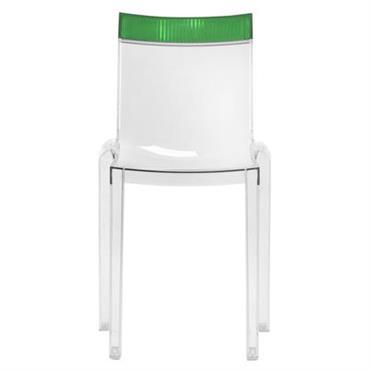 Chaise empilable Hi Cut transparente / Polycarbonate - Kartell vert